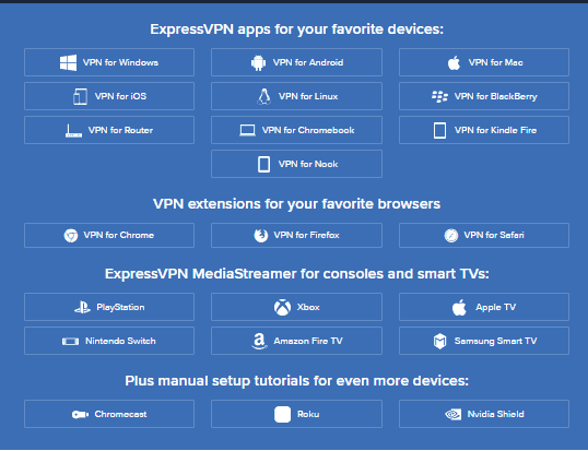 applications expressvpn