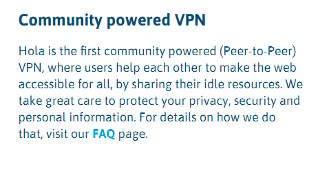 hola vpn community